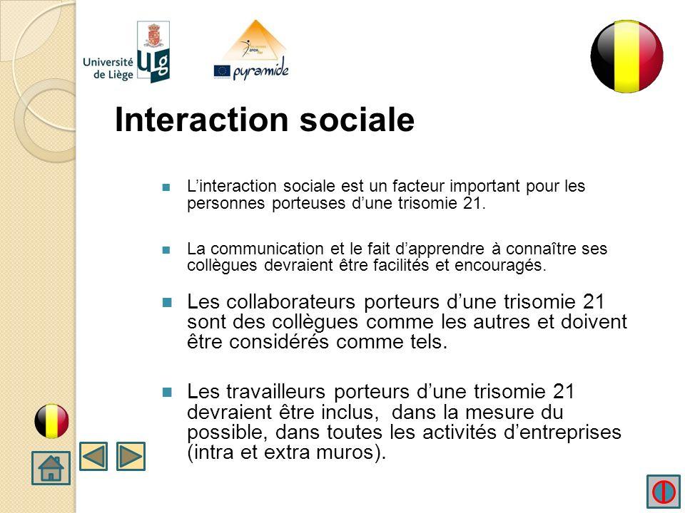 3.3 LES INTERACTIONS SOCIALES AVEC DES PERSONNES PORTEUSES DUNE TRISOMIE 21 DANS LE MILIEU DU TRAVAIL