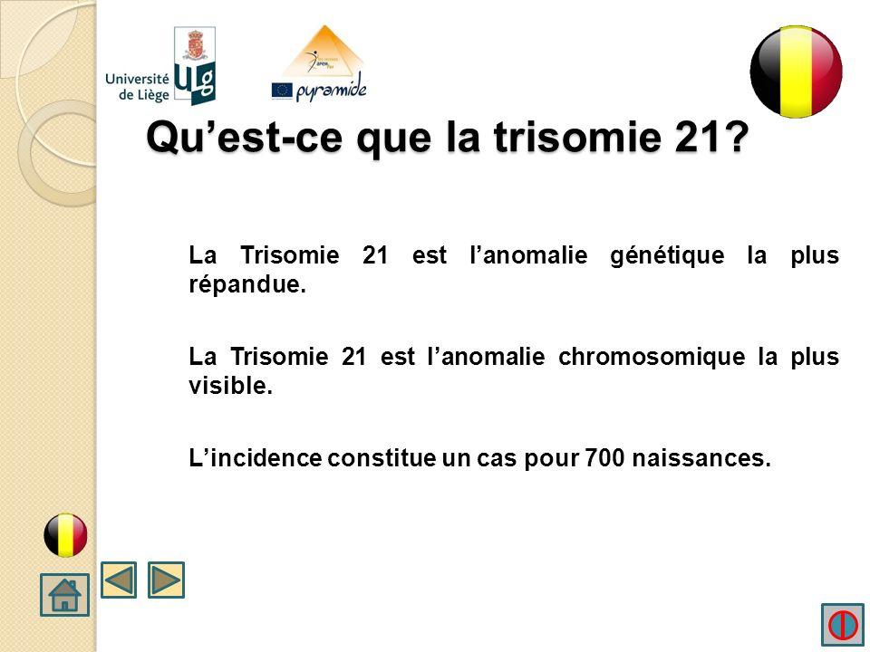 Quest-ce que la trisomie 21.La Trisomie 21 est lanomalie génétique la plus répandue.