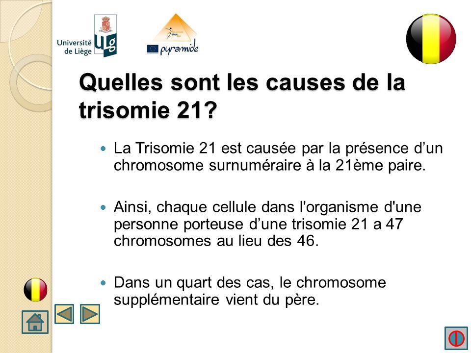 Quest-ce que la trisomie 21? La Trisomie 21 est lanomalie génétique la plus répandue. La Trisomie 21 est lanomalie chromosomique la plus visible. Linc