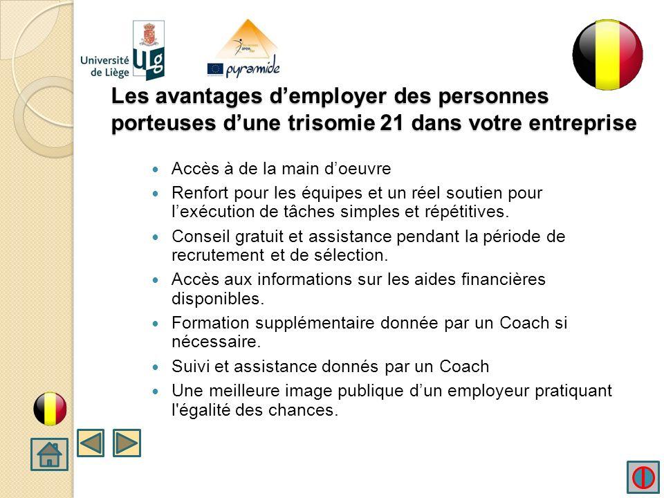 Intégration professionnelle Les tâches de travail devraient être expliquées en détail aux travailleurs porteurs dune trisomie 21 afin daider à l intégration du travail.