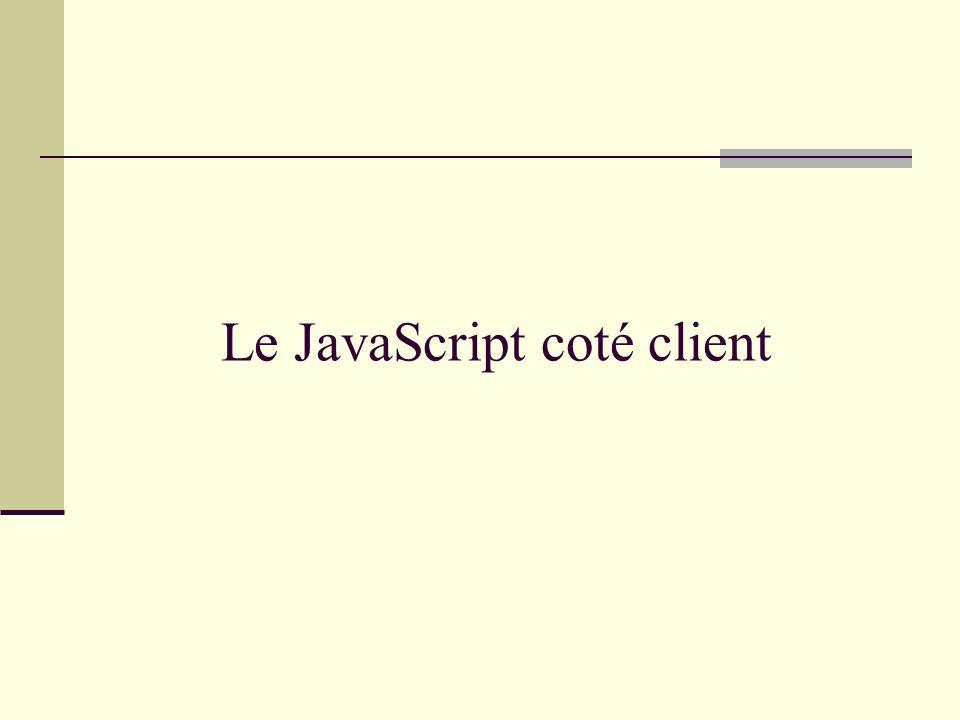 Le JavaScript coté client
