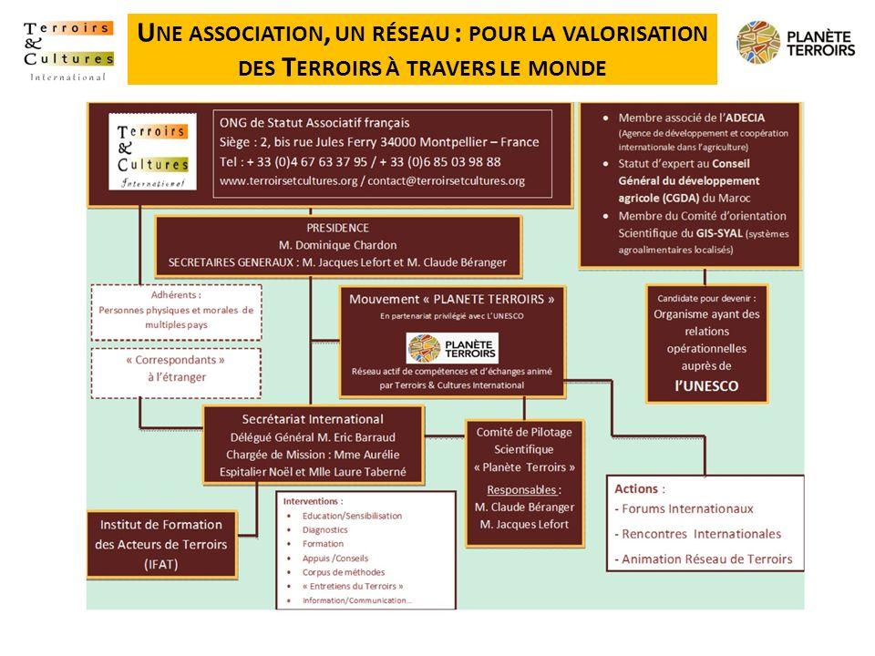 U NE ASSOCIATION, UN RÉSEAU : POUR LA VALORISATION DES T ERROIRS À TRAVERS LE MONDE