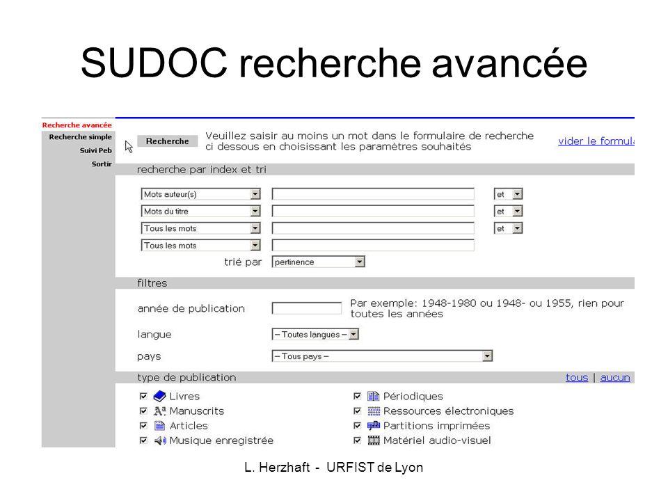 L. Herzhaft - URFIST de Lyon Business Source Premier