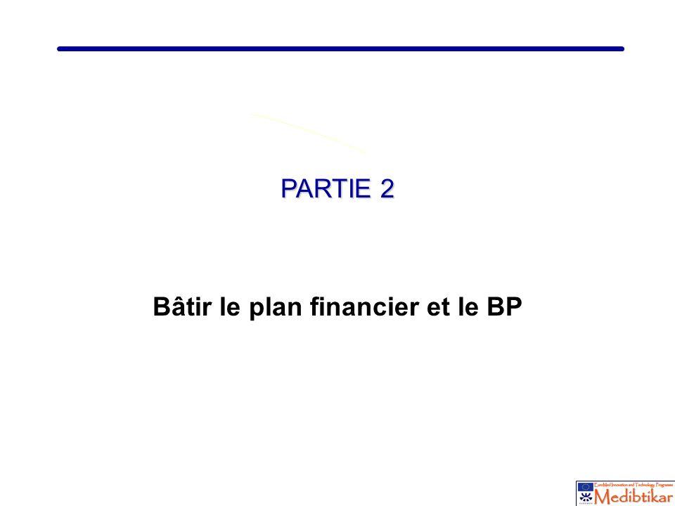 10 PARTIE 2 Bâtir le plan financier et le BP