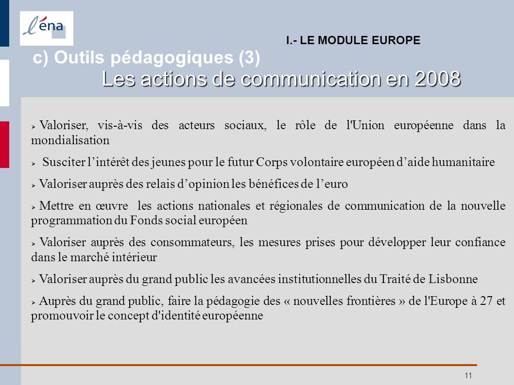11 Valoriser, vis-à-vis des acteurs sociaux, le rôle de l'Union européenne dans la mondialisation Susciter lintérêt des jeunes pour le futur Corps vol