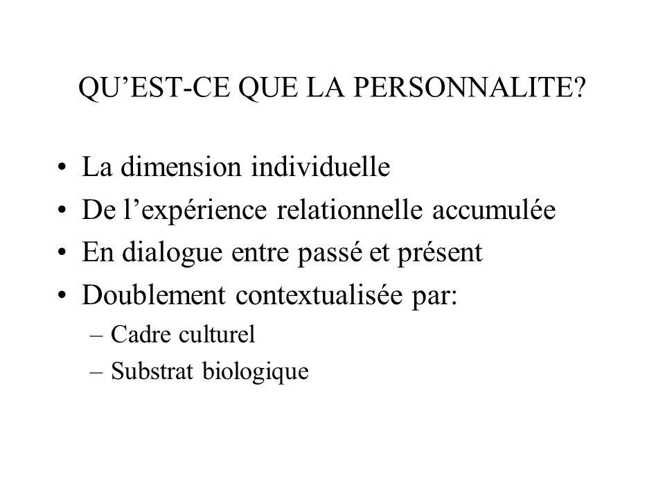 La personnalité se construit, en des termes narratifs, en attribuant du sens à lexpérience relationnelle.