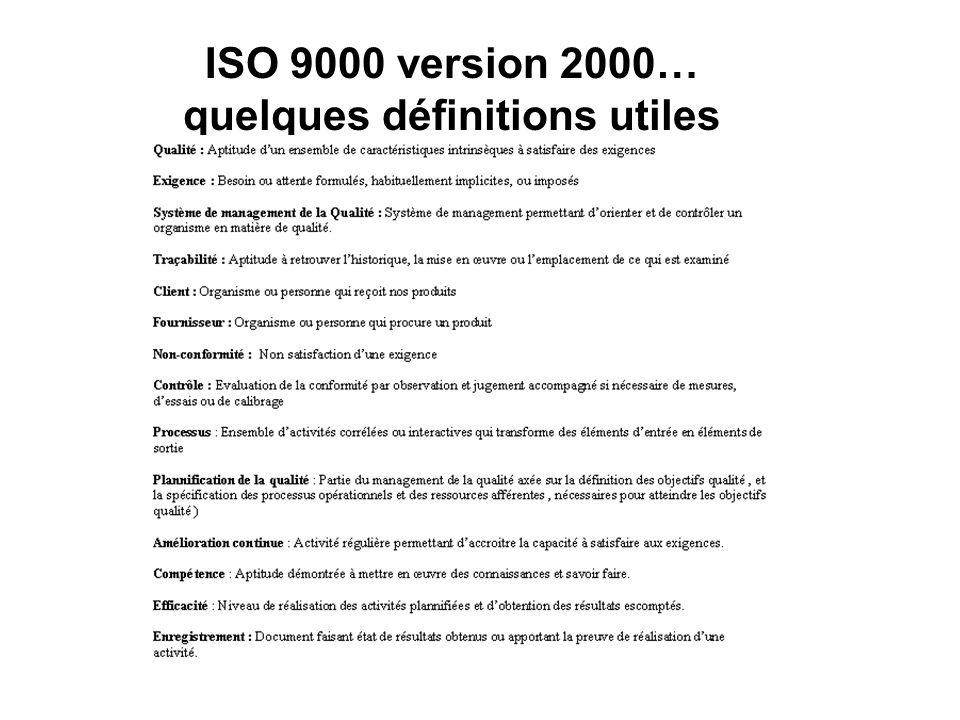 ISO 9001 v 2000 : Généralités 1 LA QUALITE A TRAVERS LES AGES...