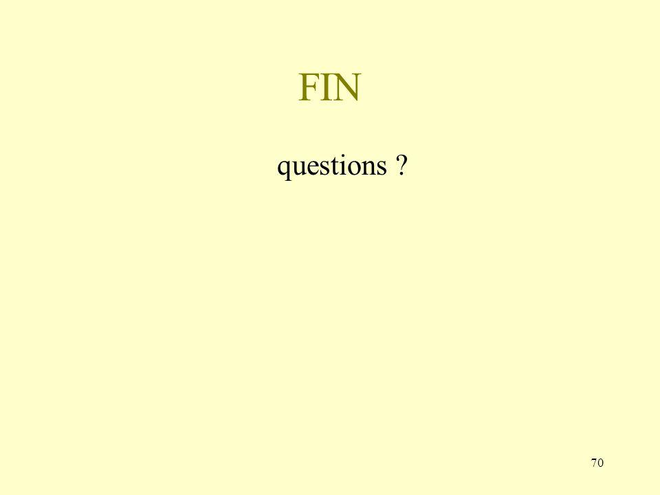 70 FIN questions ?