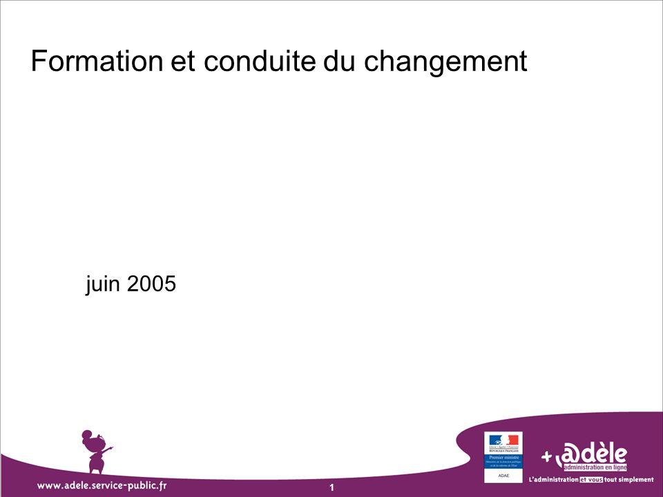 1 Formation et conduite du changement juin 2005