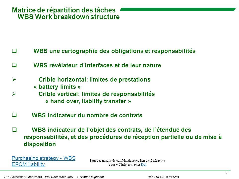 8 DPC Investment contracts – PMI December 2007 – Christian Mignonat Réf.