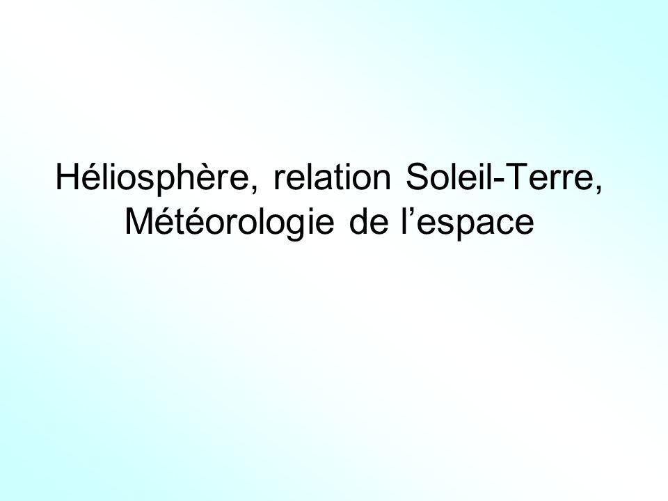 Héliosphère, relation Soleil-Terre, Météorologie de lespace