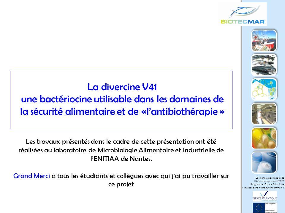 Cofinancé avec lappui de lUnion européenne FEDER Programme Espace Atlantique « Investir dans notre futur commun » Mode daction des bactériocines de classe IIa Formation de poresRécepteur membranaire