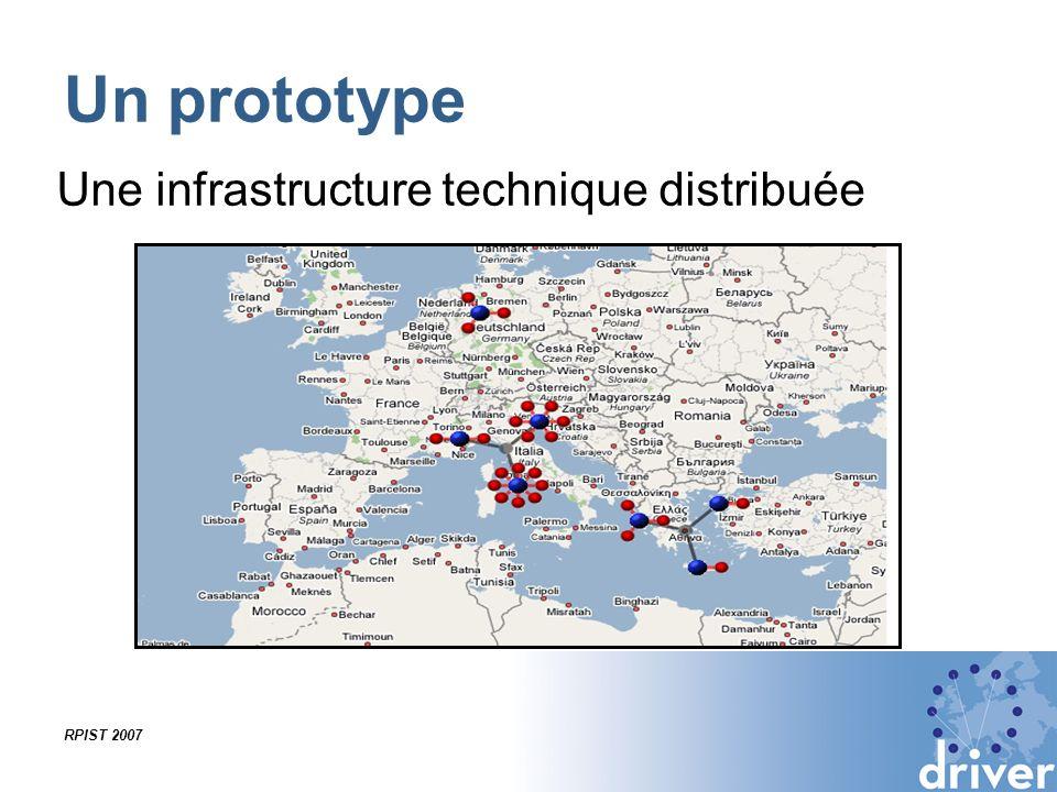 RPIST 2007 Un prototype Une infrastructure technique distribuée