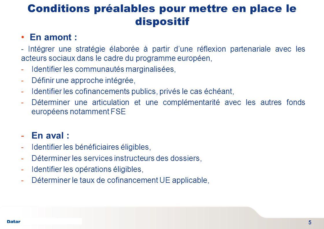 TITRE PRESENTATION DATE 06/01/2012 - SGAE Conditions préalables pour mettre en place le dispositif En amont : - Intégrer une stratégie élaborée à part