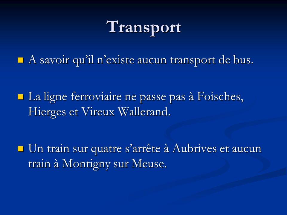 Transport A savoir quil nexiste aucun transport de bus. A savoir quil nexiste aucun transport de bus. La ligne ferroviaire ne passe pas à Foisches, Hi