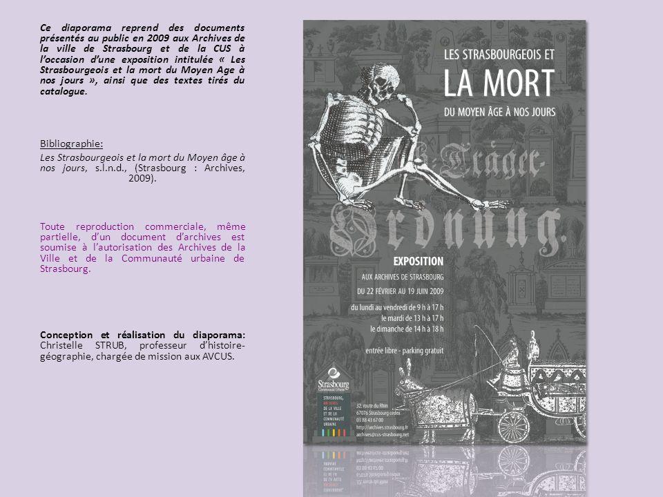 Ce diaporama reprend des documents présentés au public en 2009 aux Archives de la ville de Strasbourg et de la CUS à loccasion dune exposition intitul