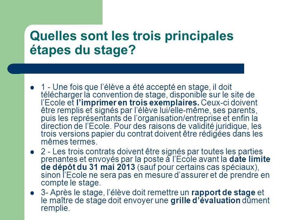 Agenda 2013-2014 1.Janvier 2013: 1. Les conseillers dorientation présentent les stages aux élèves.