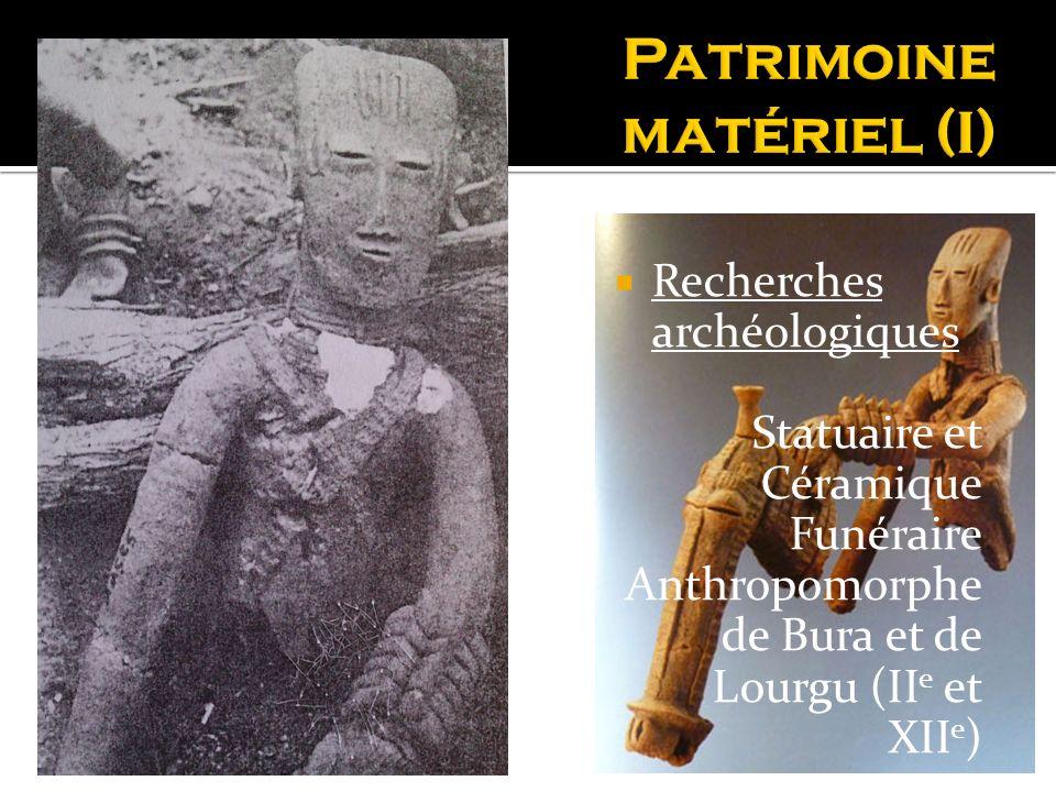 Recherches archéologiques Statuaire et Céramique Funéraire Anthropomorphe de Bura et de Lourgu (II e et XII e )