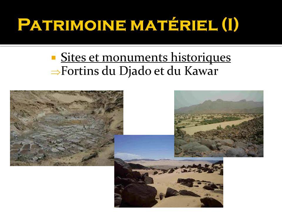 Sites et monuments historiques Fortins du Djado et du Kawar