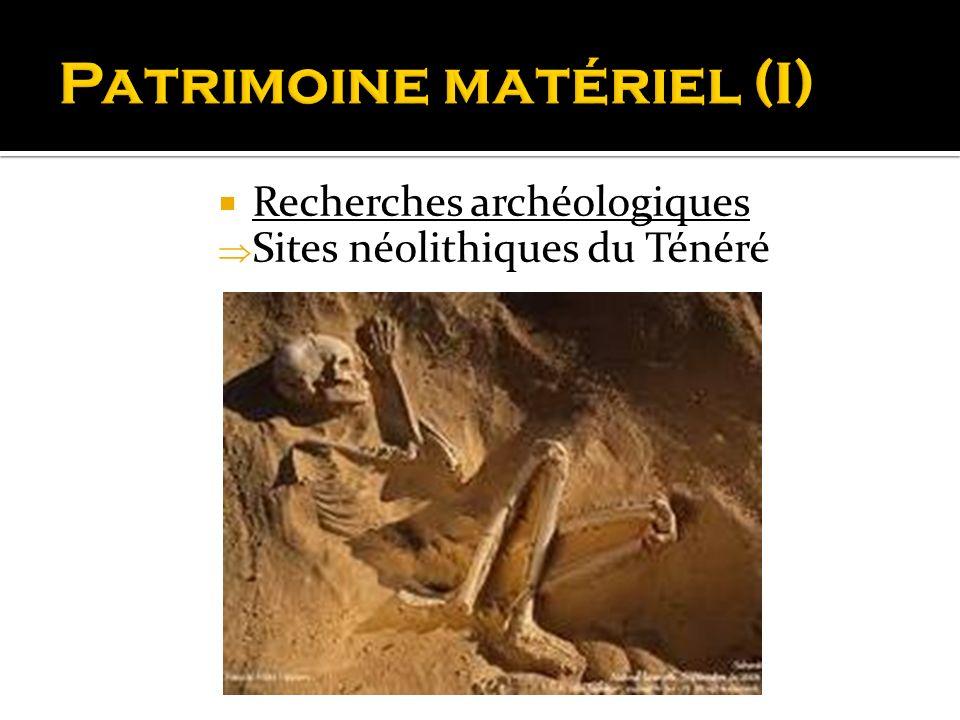 Recherches archéologiques Sites néolithiques du Ténéré