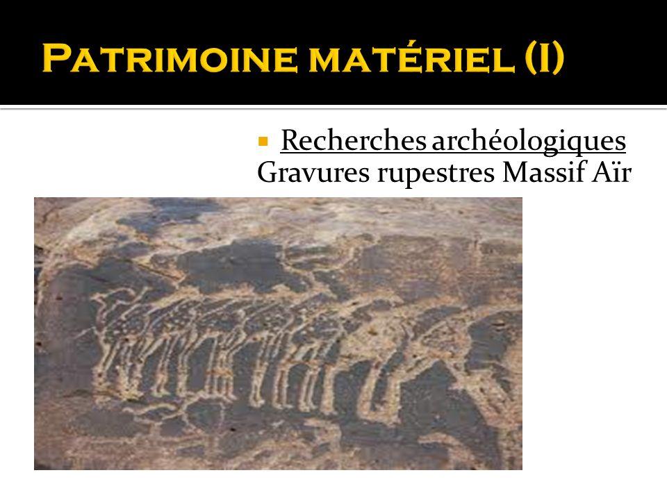 Recherches archéologiques Gravures rupestres Massif Aïr