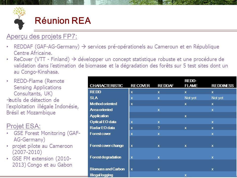 16 Réunion REA REDD-Flame (Remote Sensing Applications Consultants, UK) outils de détection de lexploitation illégale Indonésie, Brésil et Mozambique