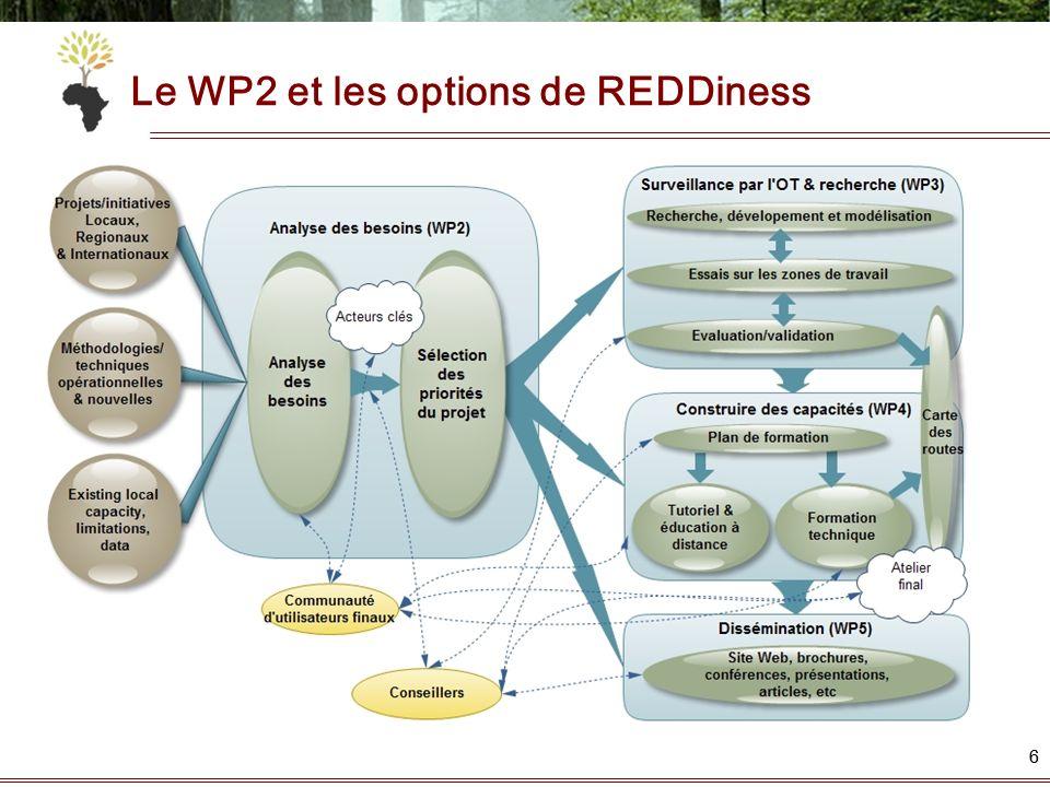 66 Le WP2 et les options de REDDiness