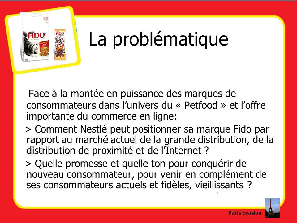 La problématique Face à la montée en puissance des marques de consommateurs dans lunivers du « Petfood » et loffre importante du commerce en ligne: >