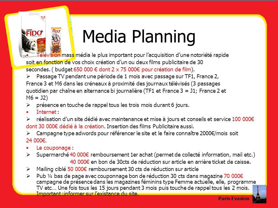 Media Planning Télévision mass média le plus important pour lacquisition dune notoriété rapide soit en fonction de vos choix création dun ou deux film