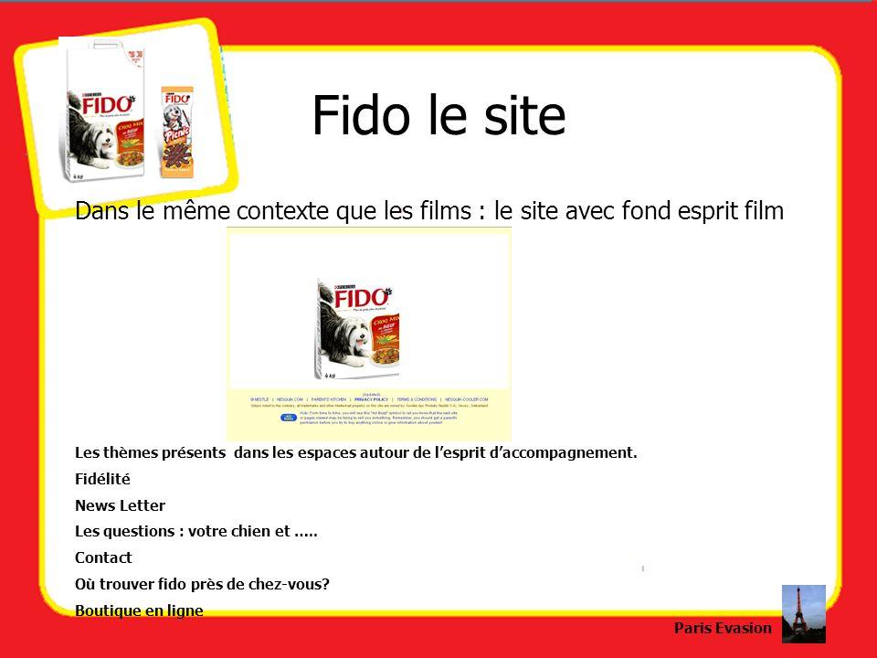 Fido le site Dans le même contexte que les films : le site avec fond esprit film Les thèmes présents dans les espaces autour de lesprit daccompagnemen