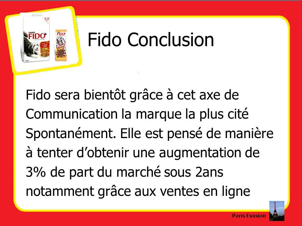 Fido Conclusion Fido sera bientôt grâce à cet axe de Communication la marque la plus cité Spontanément. Elle est pensé de manière à tenter dobtenir un