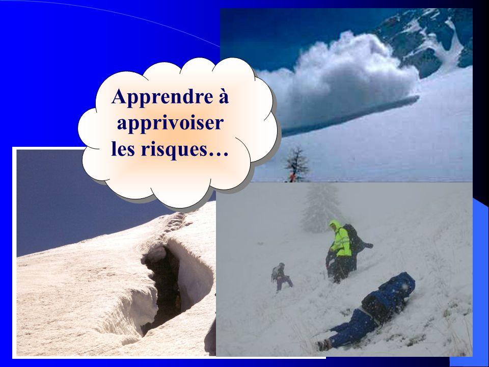 FINE - 9 décembre 04 - Cécile Dury40 Apprendre à apprivoiser les risques…