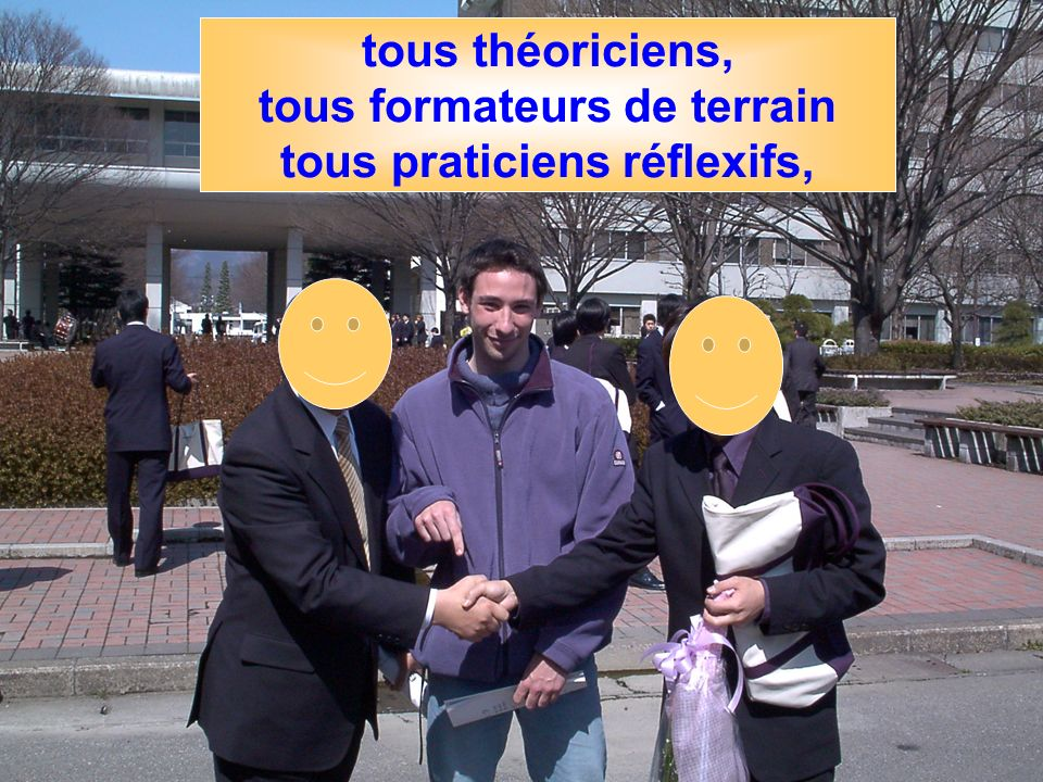 FINE - 9 décembre 04 - Cécile Dury42 tous théoriciens, tous formateurs de terrain tous praticiens réflexifs,