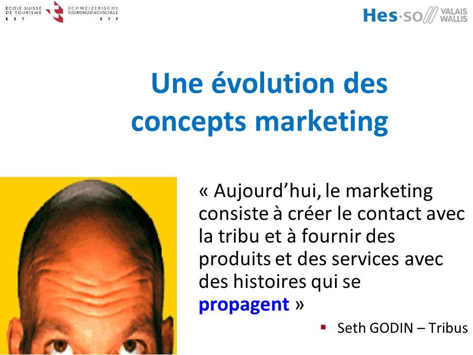 Dr. Jean-Claude MORAND Une évolution des concepts marketing « Aujourdhui, le marketing consiste à créer le contact avec la tribu et à fournir des prod