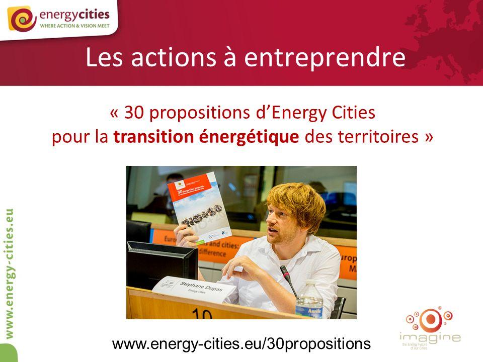 Les actions à entreprendre « 30 propositions dEnergy Cities pour la transition énergétique des territoires » www.energy-cities.eu/30propositions