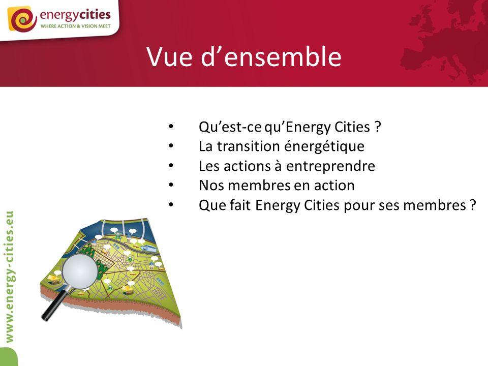 Vue densemble Quest-ce quEnergy Cities ? La transition énergétique Les actions à entreprendre Nos membres en action Que fait Energy Cities pour ses me