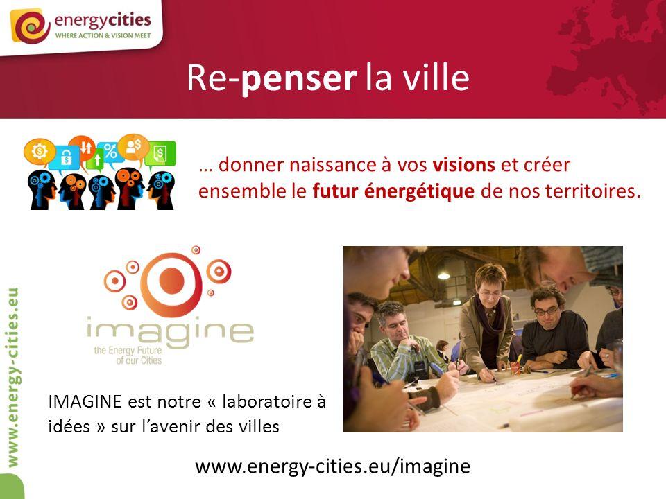 Re-penser la ville … donner naissance à vos visions et créer ensemble le futur énergétique de nos territoires. IMAGINE est notre « laboratoire à idées