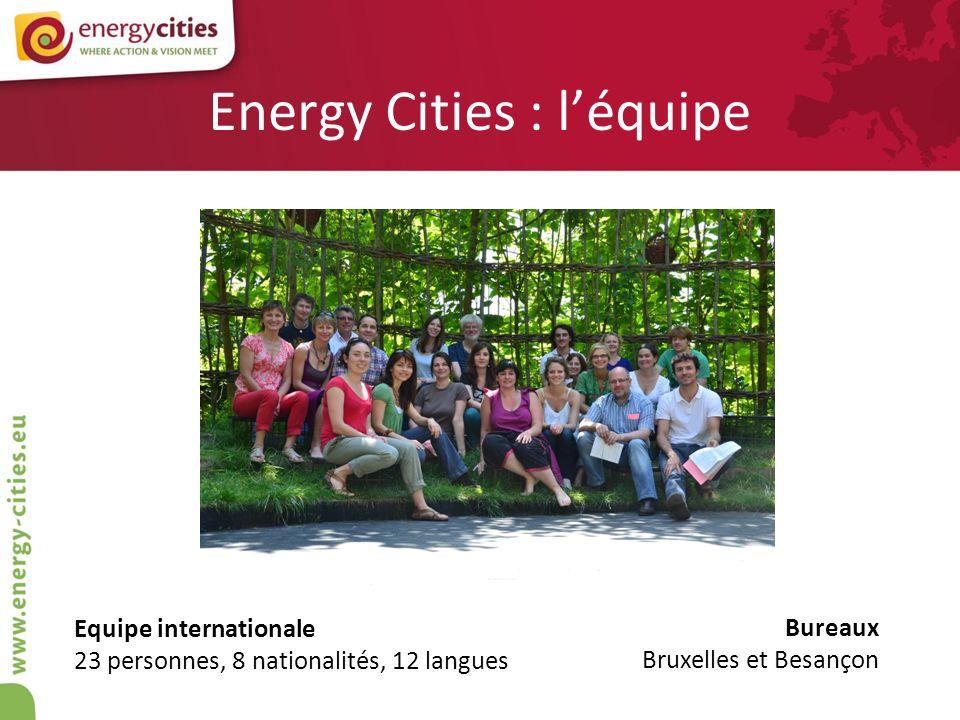 Informer régulièrement Energy Cities INFO, notre magazine annuel Energy Cities NEWS, notre e-newsletter mensuelle Le bulletin de veille mensuel réservé aux membres Site Internet et réseaux sociaux …