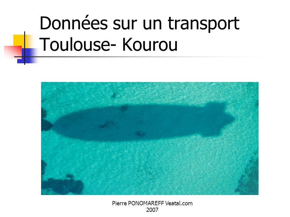 Pierre PONOMAREFF Veatal.com 2007 Données sur un transport Toulouse- Kourou