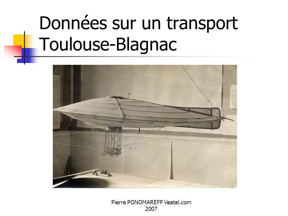 Pierre PONOMAREFF Veatal.com 2007 Données sur un transport Toulouse-Blagnac