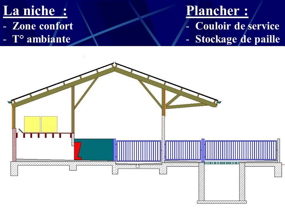 Aspect extérieur du bâtiment Parcours extérieurs (S-E) Toiture symétrique Bardage en bois Accès au bâtiment via quai Toiture en fibro-ciment Canalisat
