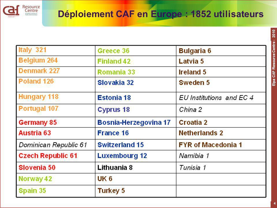 Eipa CAF Resource Centre - 2010 5 0-10; 10-20; 20-50; 50-100; > 100
