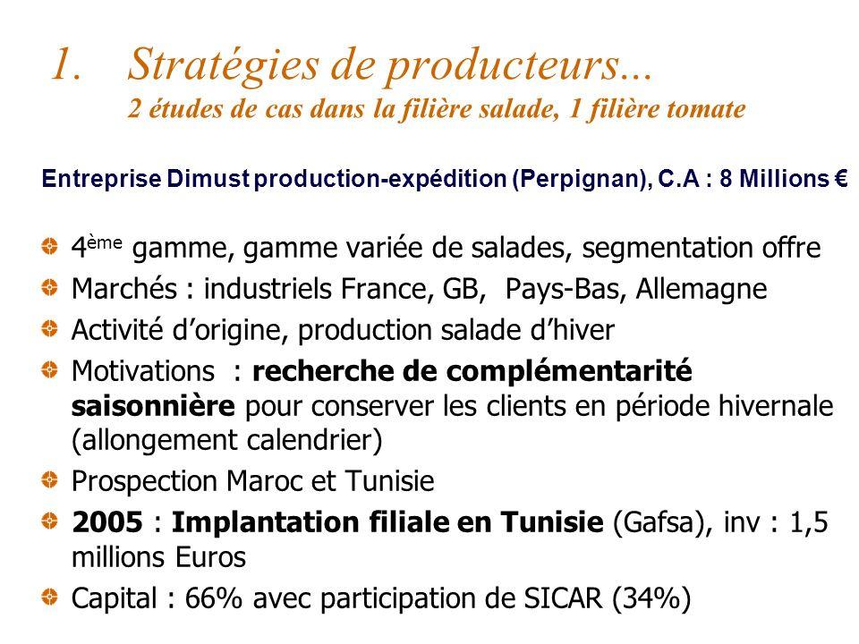 Grille de lecture des stratégies dIDE Globalement trois types de stratégies Expansion horizontale, stratégies de producteurs Contrôle vertical de lamo