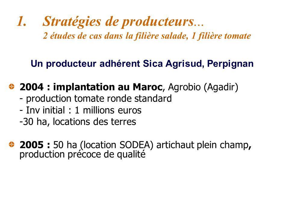Entreprise Agrolito (Carthagène, Murcie) C.A : 17 Millions 2005 : Implantation en Tunisie (Enfidha), partenariat avec lOTD (34% de la filiale Agrolito