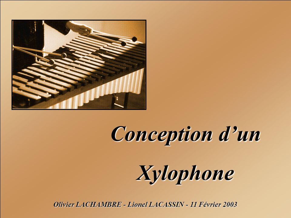 Conception dun Xylophone Olivier LACHAMBRE - Lionel LACASSIN - 11 Février 2003