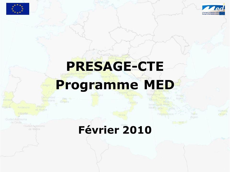 PRESAGE-CTE Programme MED Février 2010