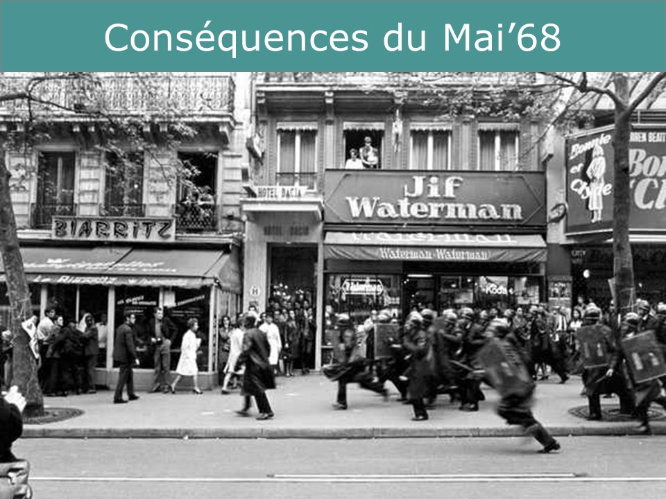 13 Running Title Conséquences du Mai68