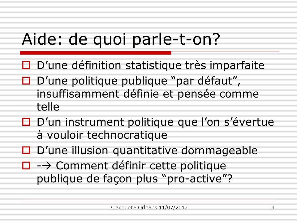 P.Jacquet - Orléans 11/07/201224 Crise de la mondialisation Transition de laprès-guerre froide, et après.
