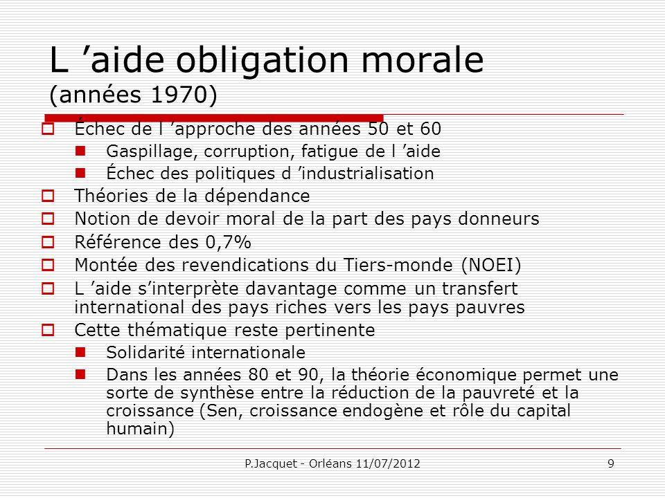 P.Jacquet - Orléans 11/07/201220 Situation des finances publiques Source : Fonds monétaire international, World Economic Outlook (statistiques en ligne, mai 2012)