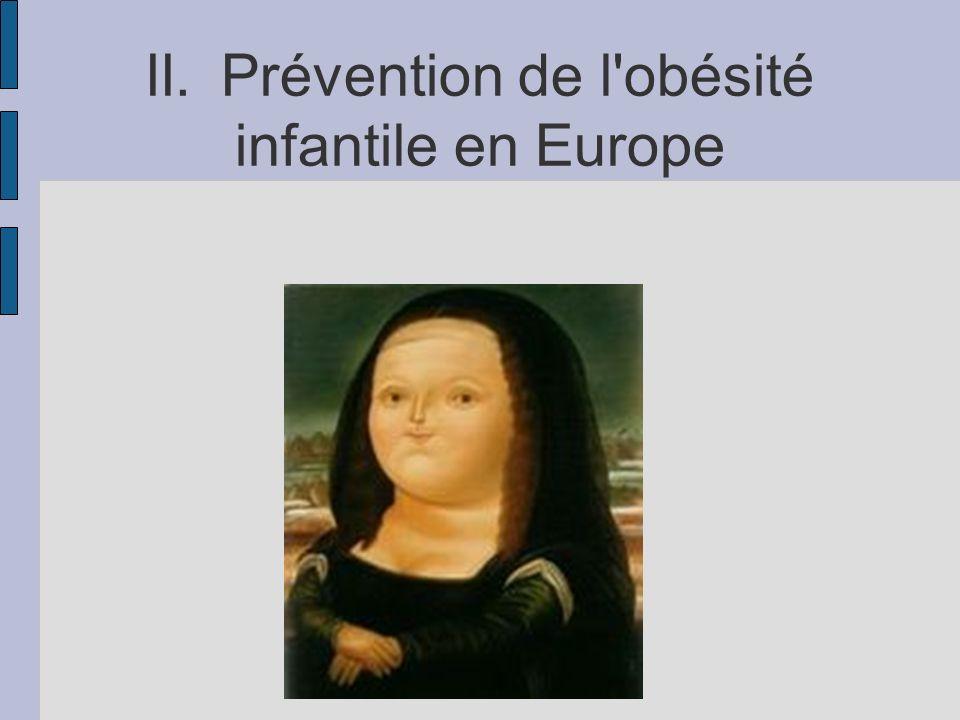 II.Prévention de l'obésité infantile en Europe